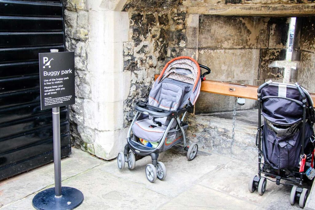 Parking for strollers at Tower of London