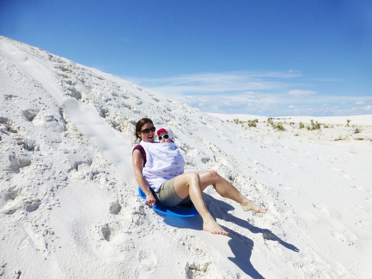 Visiting White Sands National Park with a baby