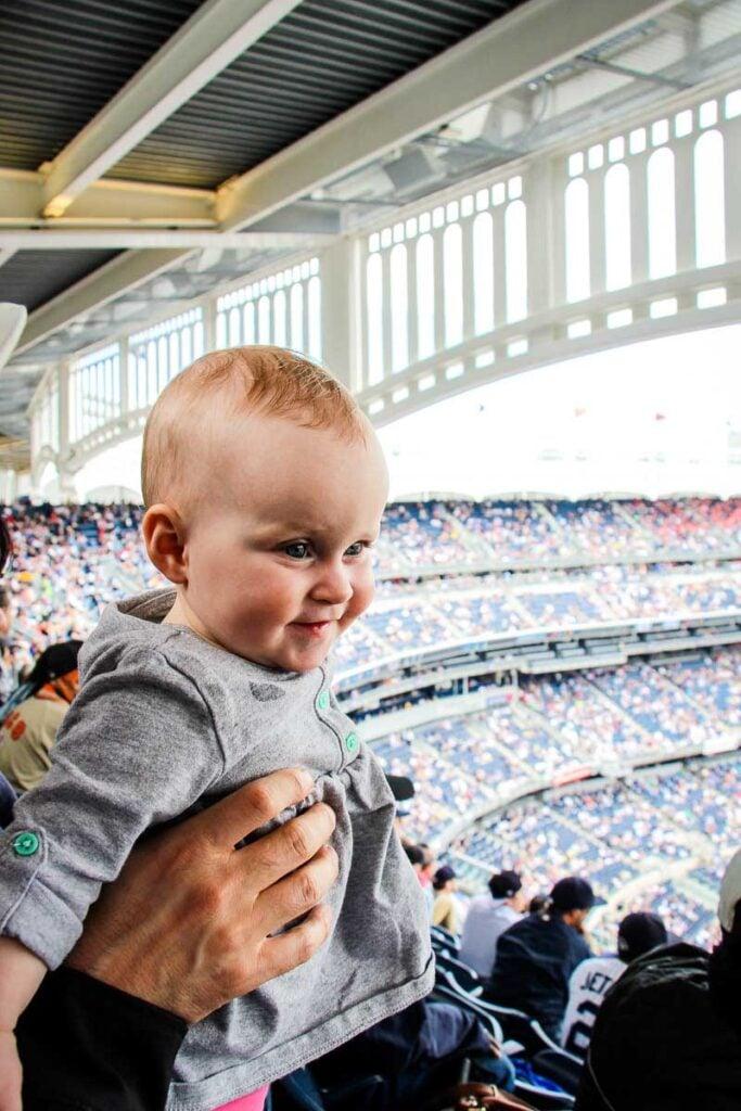 Baby at New York Yankees Game