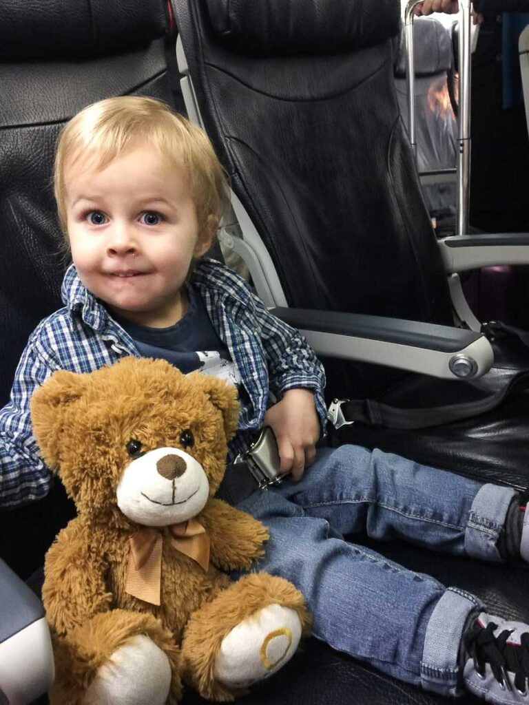 carry on items when flying with a toddler