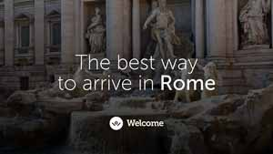 Ad for Welcome Pickups - Rome airport transportation