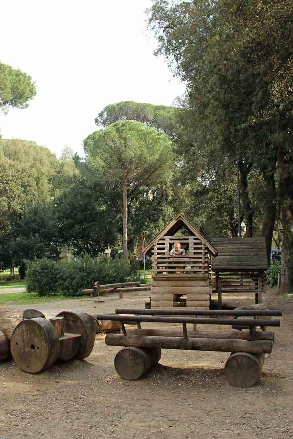 The playgrounds in Villa Borghese are great when visiting Rome with baby