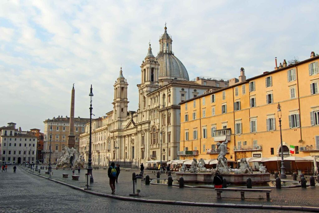 When visiting Rome with a toddler, try to get to the top attractions as early as possible. For example, Piazza Navona was nearly empty when we arrived