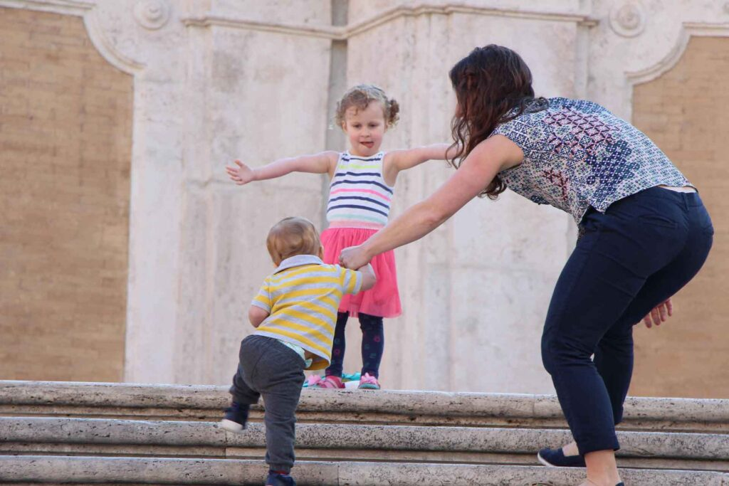 When looking for things to do in Rome with a baby, be sure to plan on an early arrival. The Spanish Steps are a great example of an attraction where it pays to get there early