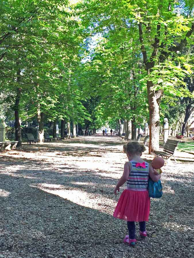 The shade found in Villa Borghese Gardens makes it a great activity on a hot day in Rome with kids