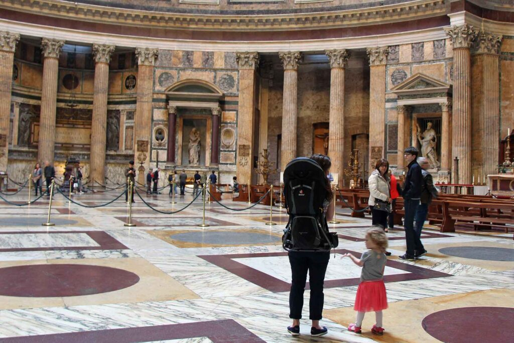 We did not use a stroller in Rome - we used a combination of backpack carriers and soft Ergobaby carriers