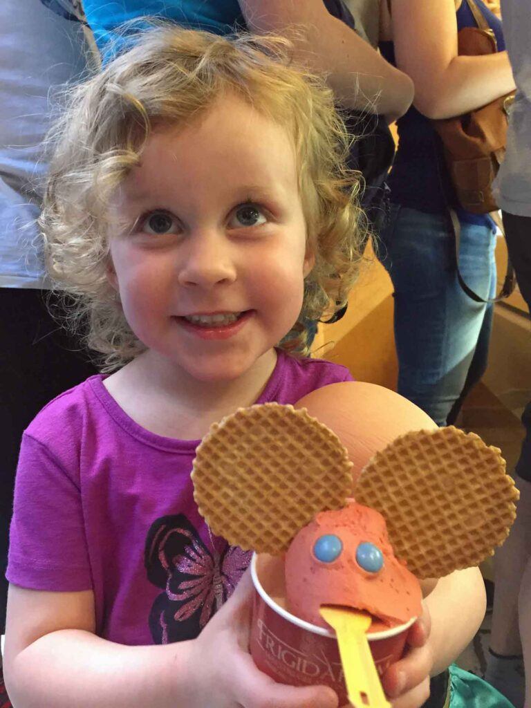 Our toddler loved her special gelato she got at our favorite gelato place in Rome