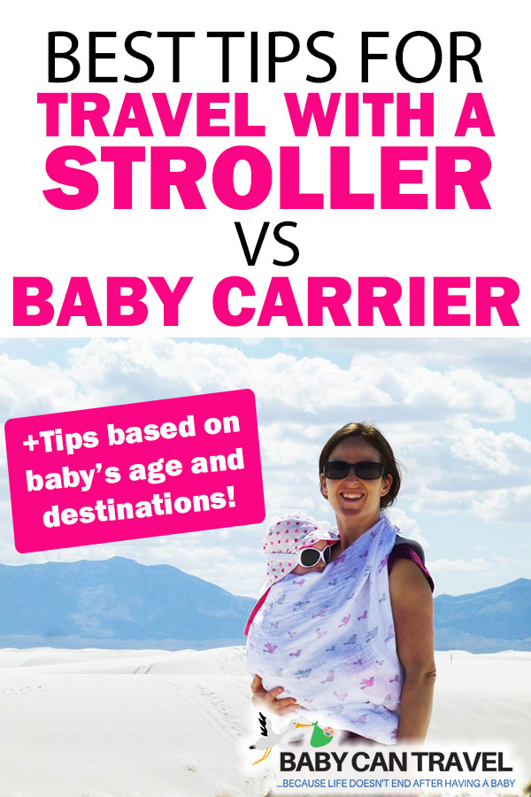 Baby Carrier vs Stroller for Travel with Baby
