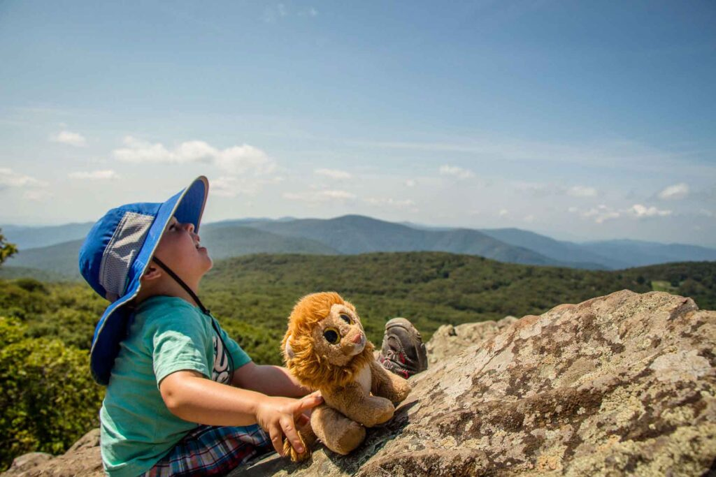 shenandoah hiking trails with toddlers