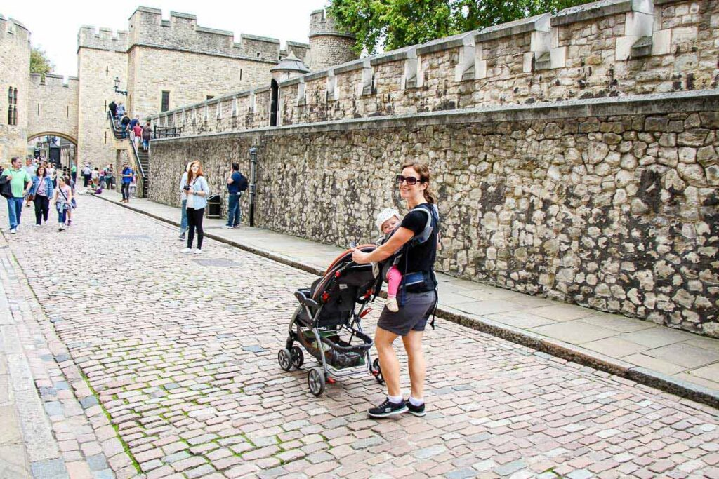 carrier vs stroller for travel with a baby