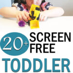 Screen free toddler travel toys