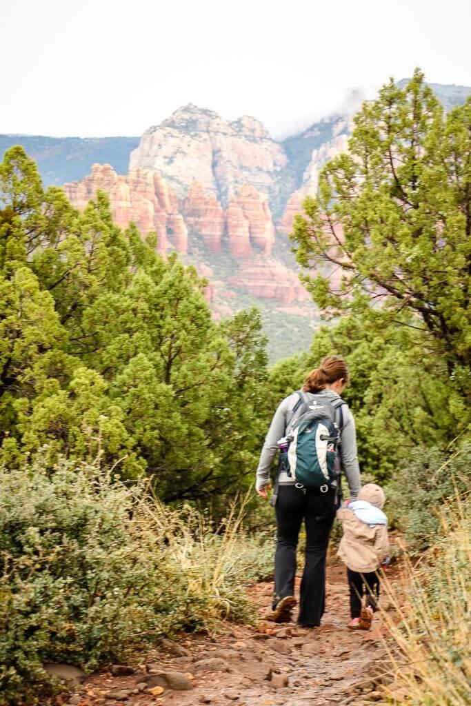 hiking with toddler on short Sedona hike
