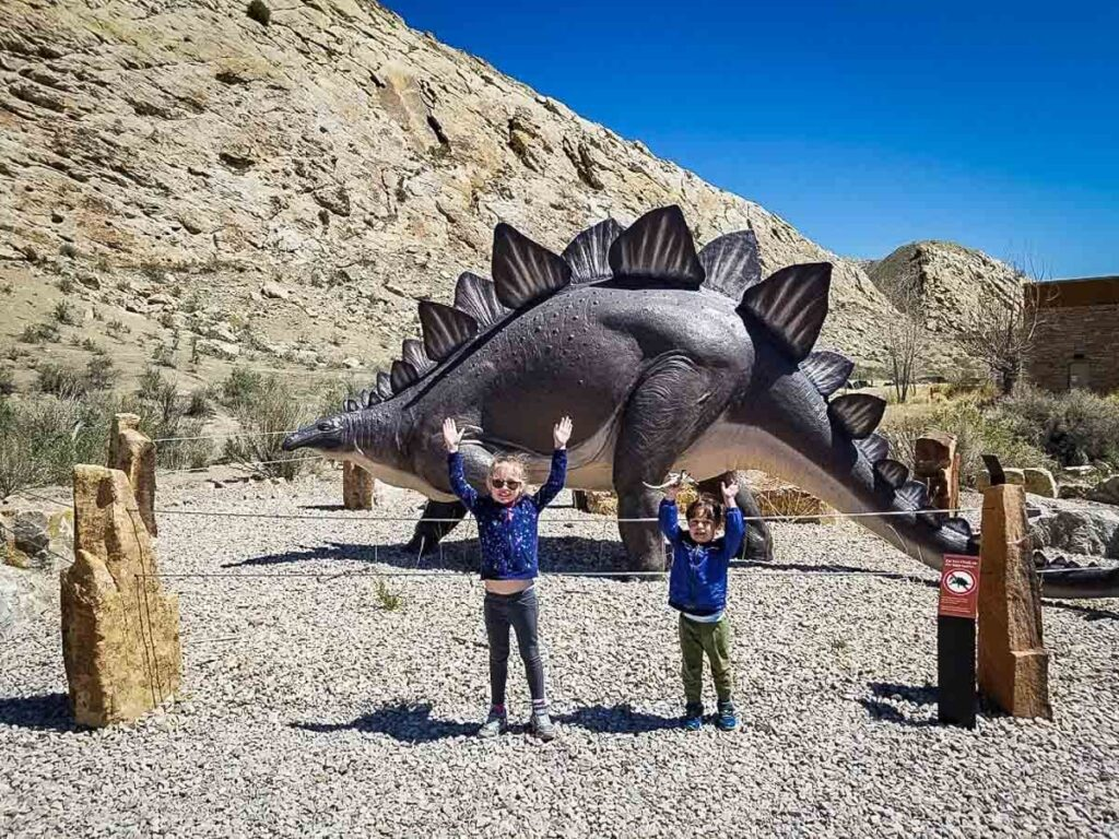 Dinosaur National Monument with a toddler