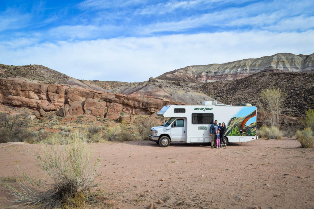 RV camping in Utah with a toddler