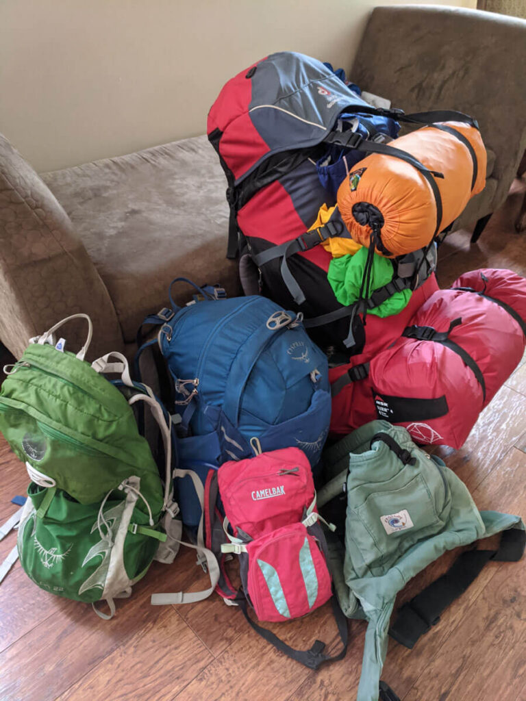Gear for backcountry camping with a toddler