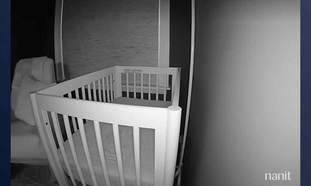 Nanit Pro Baby Monitor for Travel - View from Multi-Stand