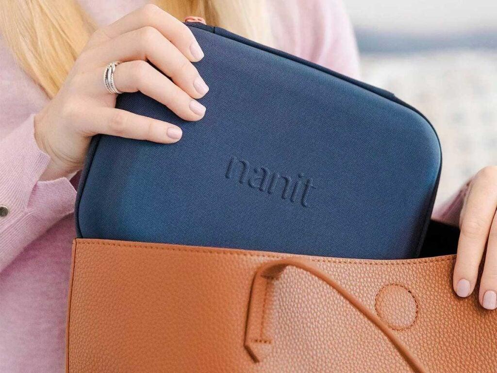 Nanit Pro Travel Case fits in Purse