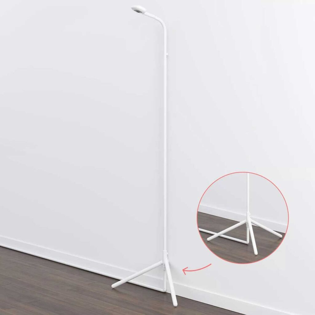 Nanit Pro Travel Baby Monitor on Floor Stand