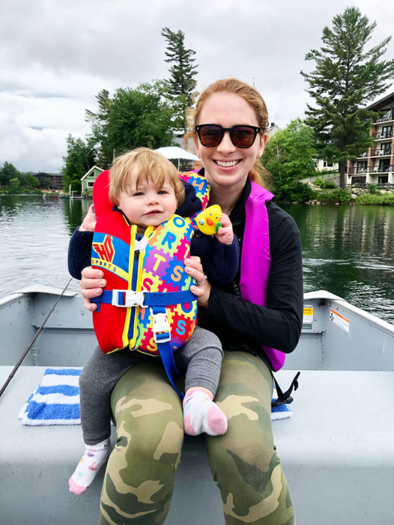 Row Boat on Mirror Lake - best things to do with a baby in Lake Placid