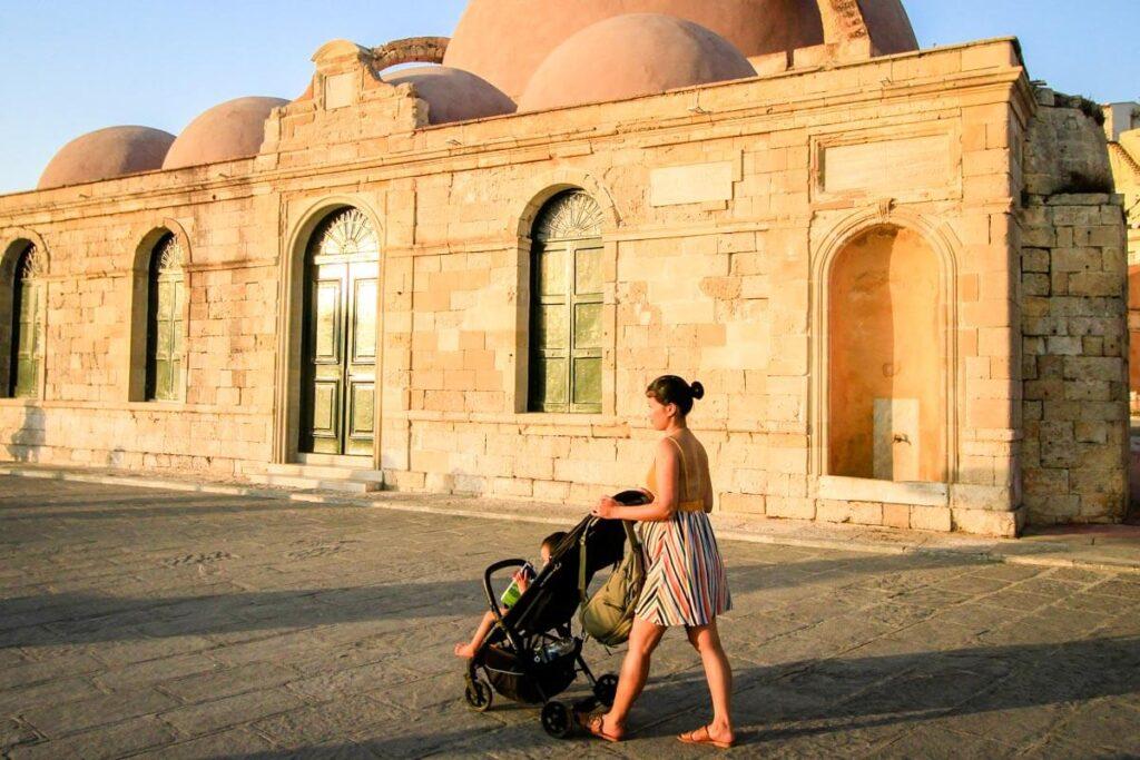 Mother pushing inglesina baby stroller