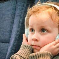 toddler headphones on airplane